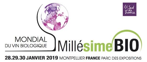 28, 29 et 30 janvier Millésime Bio à Montpellier